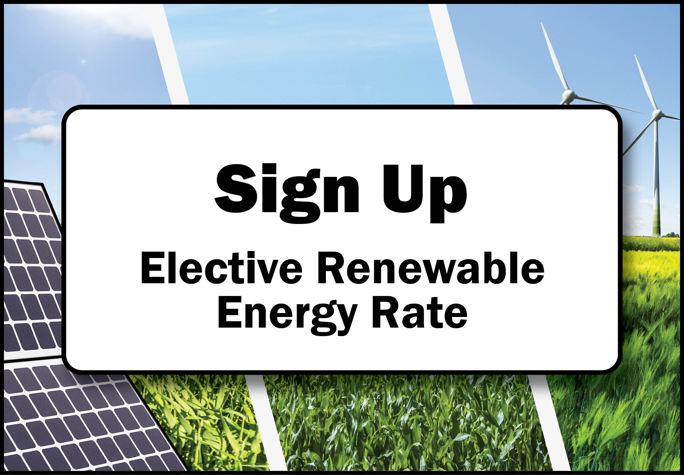 Elective Renewable Energy sign up button