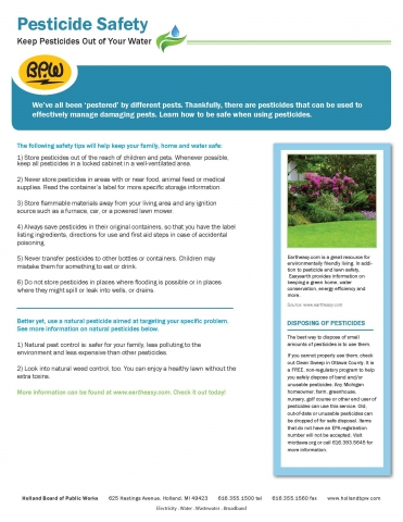 Water Fact Sheet Pesticides
